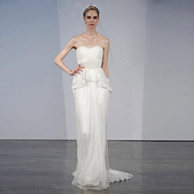brautkleid Latest Designer 2017 Strapless Lace Zuhair Murad Wedding ...