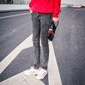 Мода снежинка мужские эластичные узкие джинсы мужчины уменьшают подходящую карандаш мужчины калько джинсы masculina джинсовая одежда / NZK3