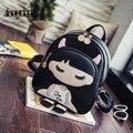 Hot Sale Women Leather Backpack For Girls Students School Bags Cartoon Rucksack Mini Bookbags Mochila Feminina