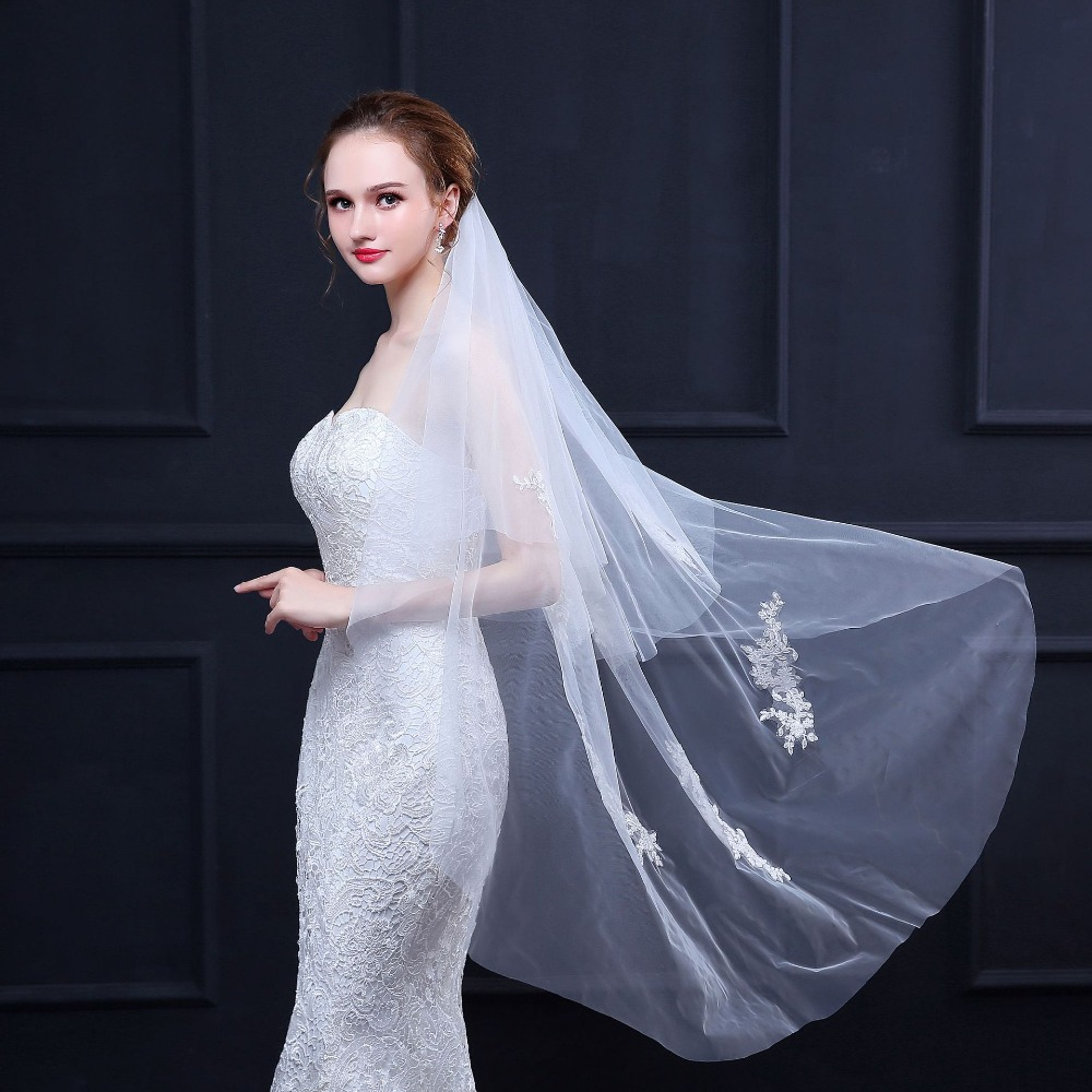Spring New Two Layer Short Wedding Veil With Comb Blusher Bridal Veils 2019 Fashion Wedding Accessories