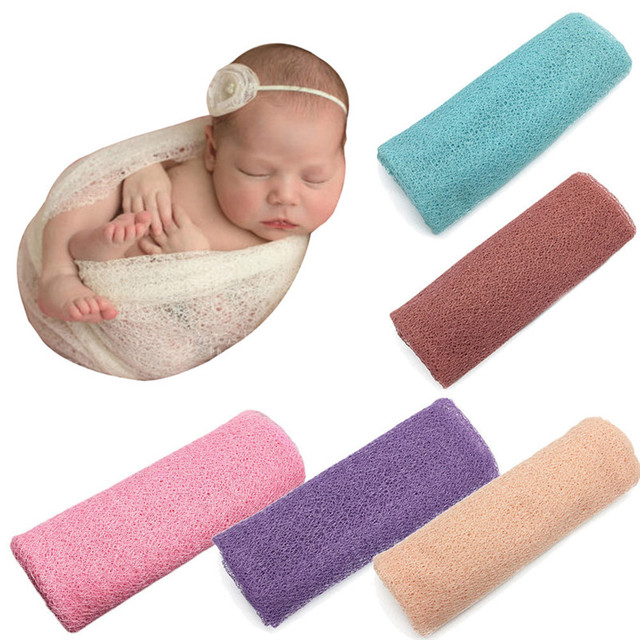 Newborn Baby Girl Boy Hollow Baby Wraps Blanket Super Soft Cotton