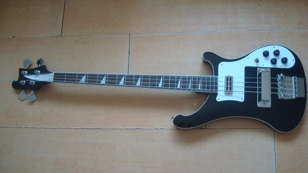 New Ricken Backer Electric Bass 4 Strings Black Finish