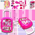 New arrival Miller Exchange Girl Children Play Show Makeup Suitcase Toy Set Dressing Accessories early education toys gift