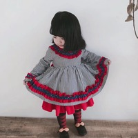 Cute Baby Dress for Girls Spanish Princess Party Dresses Children Dress 2019 Spring Autumn Striped Girl Robe Fille Kids Clothing