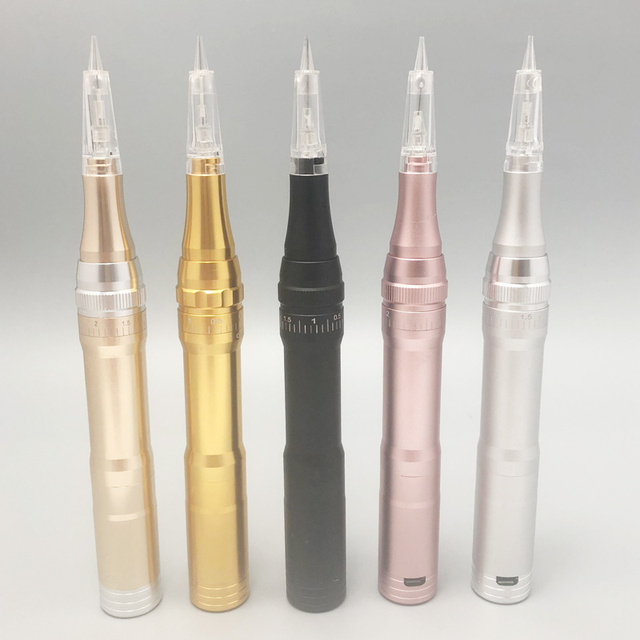 4 Colors Best Quality Wireless Permanent Makeup Tattoo Machine Microblading Rechargeable Eyebrows Tattoo Pen 1