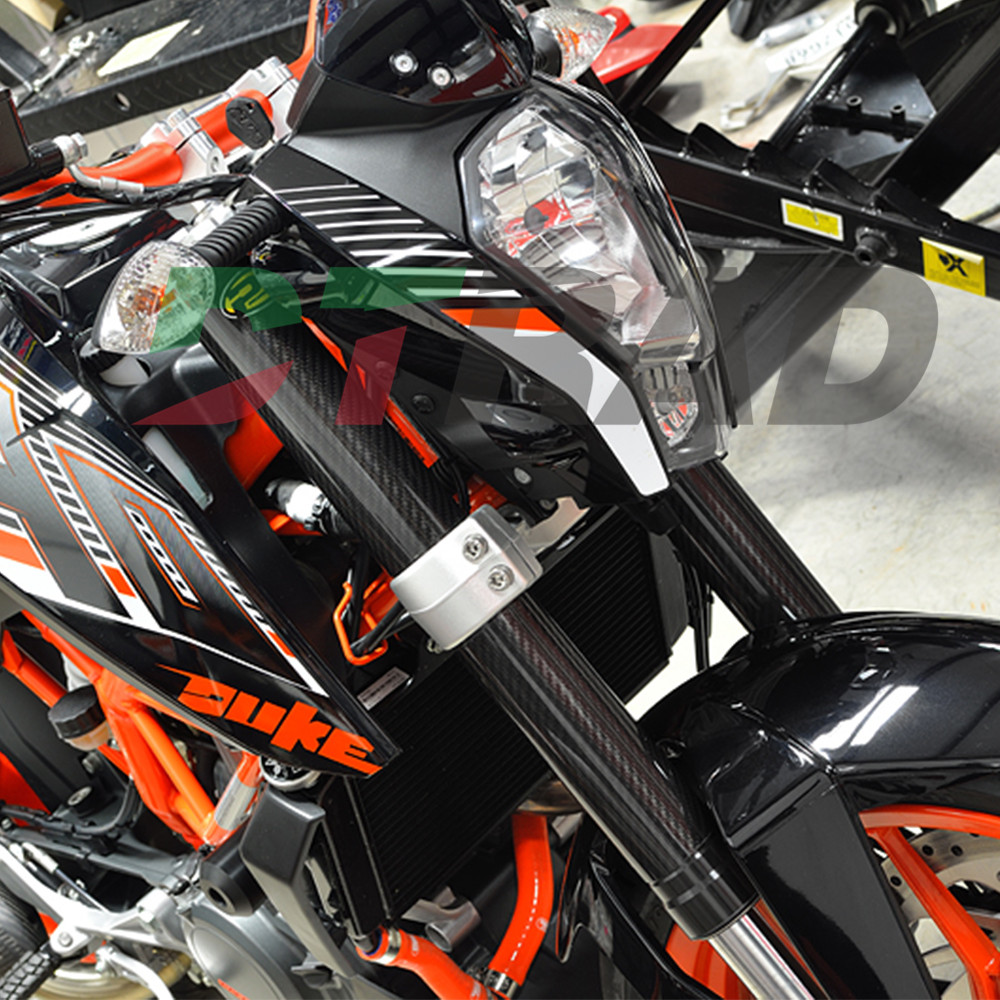 CARBON FIBER FORK GUARDS WRAPS Protectors For KTM 85SX 2003-2009 Full Carbon Upper & Lower