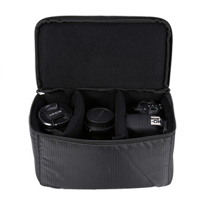 Image 5 - Lightweight Partition Padded Insert Protection Storage Camera Case Cover Photo Bag for Leica Nikon Canon Sony Panasonic Fujifilm