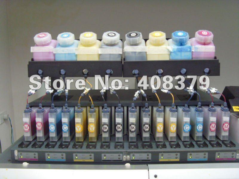 Двойная 8 цветная объемная система чернил 8+ 16 объемная система для Roland, Mimaki, Mutoh(8 бутылок+ 16 картриджей