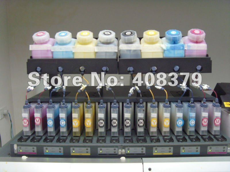 double 8 color Bulk ink system 8 +16 bulk system for Roland,Mimaki,Mutoh(8 bottle +16 cartridges) 4 bottles 4 cartridges roland bulk ink system
