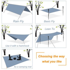 Image 5 - خفيفة في الهواء الطلق المحمولة المطر قماش القنب المظلة خيمة معلقة كبيرة متعددة الوظائف خيمة قابلة للطي الأشعة فوق البنفسجية برهان مقاوم للماء
