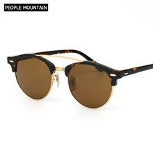 7360de2a25 2018 Hot Round Acetate Tortoise Frame Men Sunglasses Lunettes Soleil Femme  UV400 Women Sun Glasses Mirror