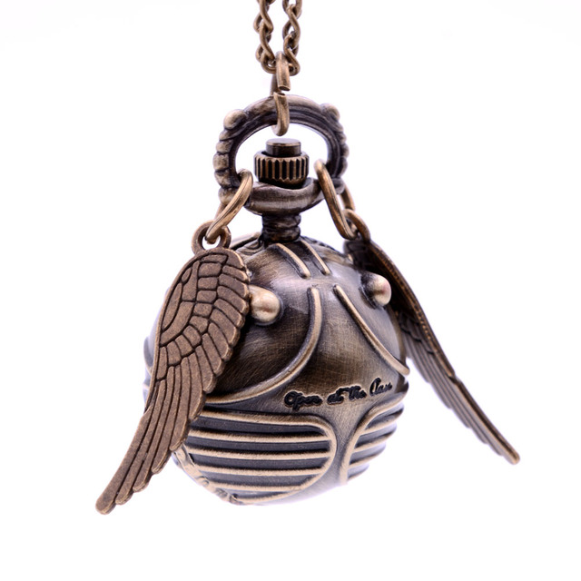Hot Sell Drop Shipping Ball Wings Mens Womens Kids Quartz Pocket Watch With Swea