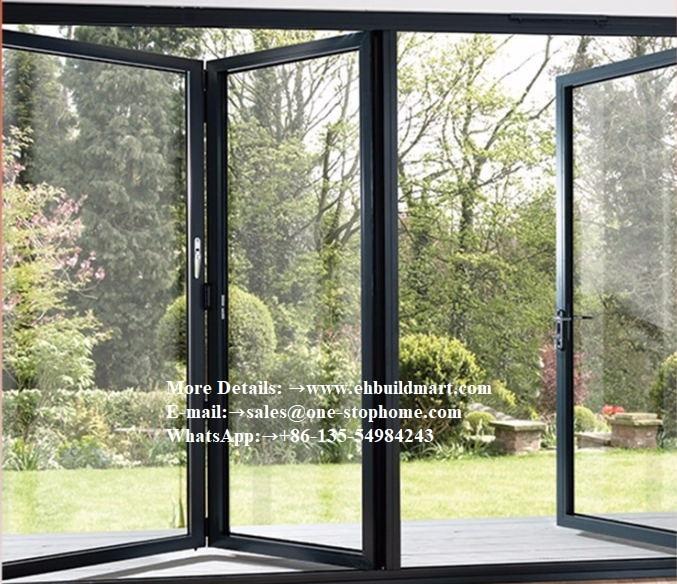 Power Coated Sliding Open Style Aluminum Frame Internal Folding Doors,panoramic Glass Folding Glass Doors For Brisbane