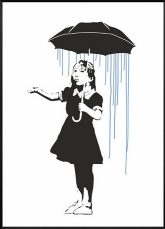Long way home by banksy print graffiti art girl with umbrella wall art canvas prints poster wall pictures home decor no frame in painting calligraphy from