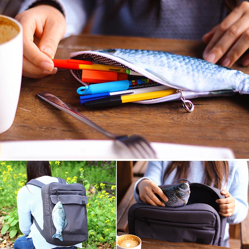 geekoplanet.com - Fish Pencil/Makeup Case Cosmetic Bag
