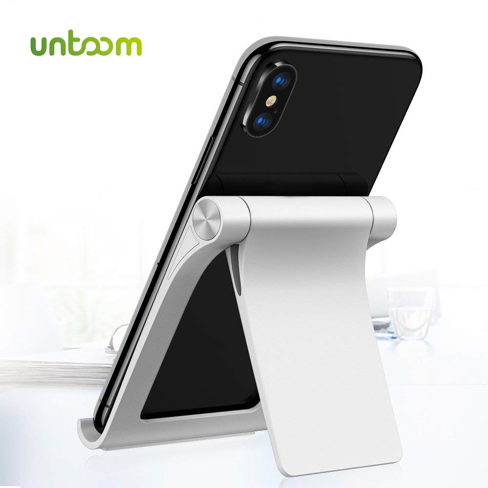 Untoom Phone Holder Stand For IPhone Xs Max Xr 8 7 For IPad Universal Adjustable Foldable Mobile Phone Tablet Desk Holder Stand