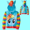Retail! 2017 New little pony Girls Clothes Children Sweatshirts Kids Jackets Coat Hoodies Clothing Brand Baby Child Jerseys