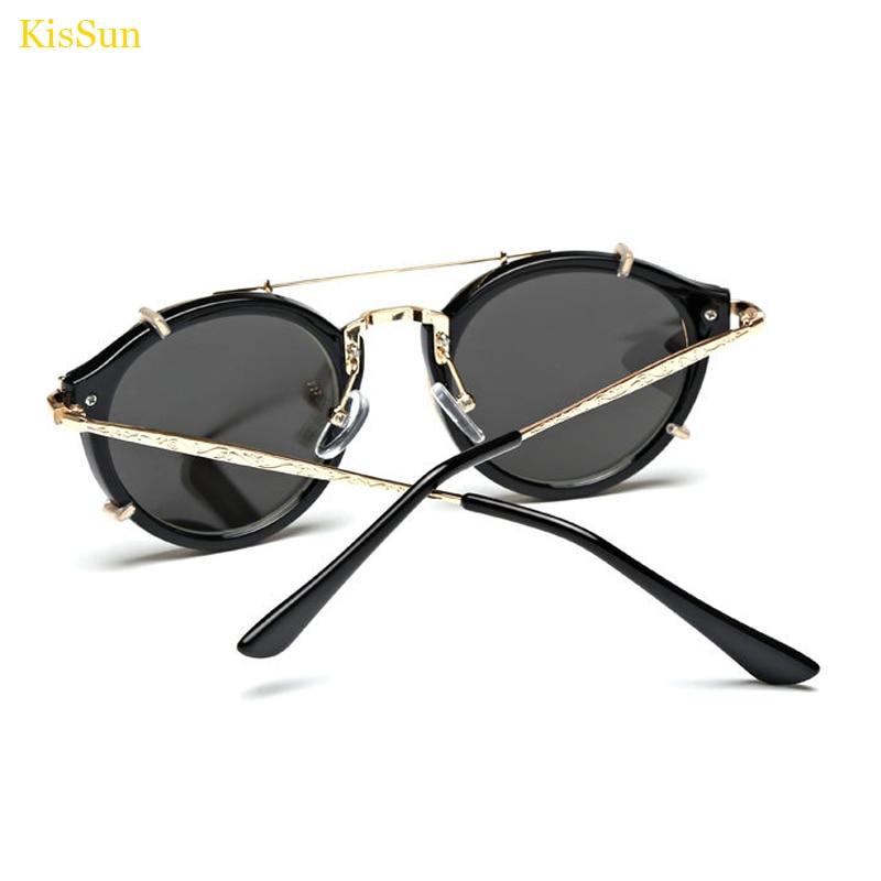 2017 Baru Kedatangan Vintage Steampunk Kacamata Cermin Kacamata Hitam - Aksesori pakaian - Foto 3
