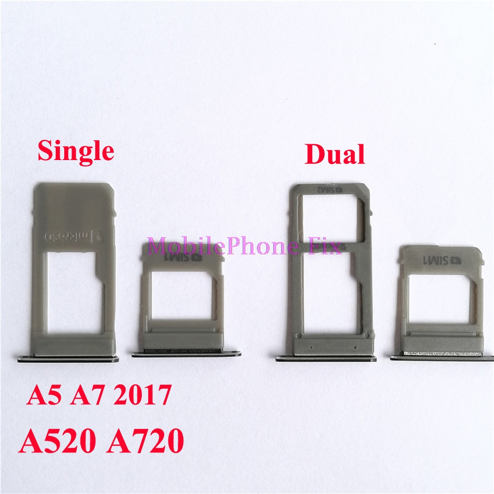20 Set Sim Card Tray + SD Card Tray For Samsung Galaxy A5 A7 2017 A520 A720 Single / Dual Sim Card Tray Slot Holder Parts