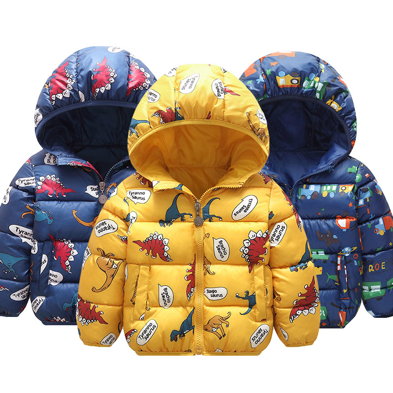 Baby Kids Jackets 2020 Autumn Winter Boys And Girls Warm Thick Hooded Coat Children Outerwear 1-6 Y Toddler Infant Clothing 1