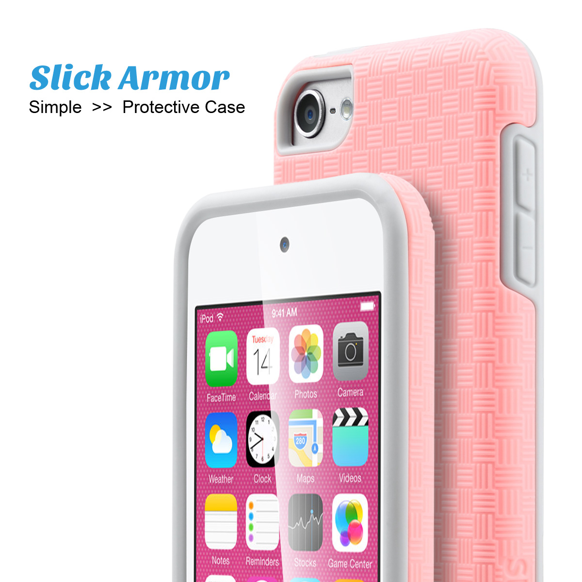 hot sale online e9156 066e4 US $11.99 |For Apple iPod Touch 6 & iPod Touch 5 Case, ULAK [SLICK ARMOR]  Slim Protection Case for Apple iPod Touch 6 5th Generation on  Aliexpress.com ...