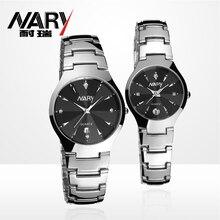 Luxury brand NARY watches men quartz business fashion casual watch full steel date women lover couple 30m waterproof wristwatche