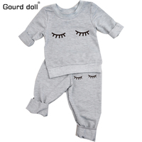0 24M Baby Clothing Sets 2017 Spring Autumn Baby Boys Girls Clothes Long Sleeve T Shirt