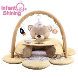 Детский Блестящий детский игровой коврик, надувной детский игровой коврик для малышей, коврик для фитнеса и Ползания для новорожденных 0-2 л...