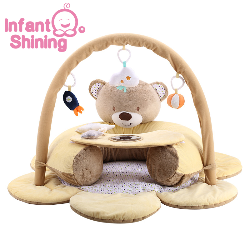Infant Shining Baby Play Mat Inflatable Cubs Baby Game Blanket Newborn Fitness Crawl Mat 0-2 Y Cushion Puzzle Toys