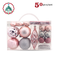 Black Friday 2018 Christmas Decor Tree Ball Gift Bead string Baubles Xmas Party Snowflake Hanging Ornament Supplies for Home