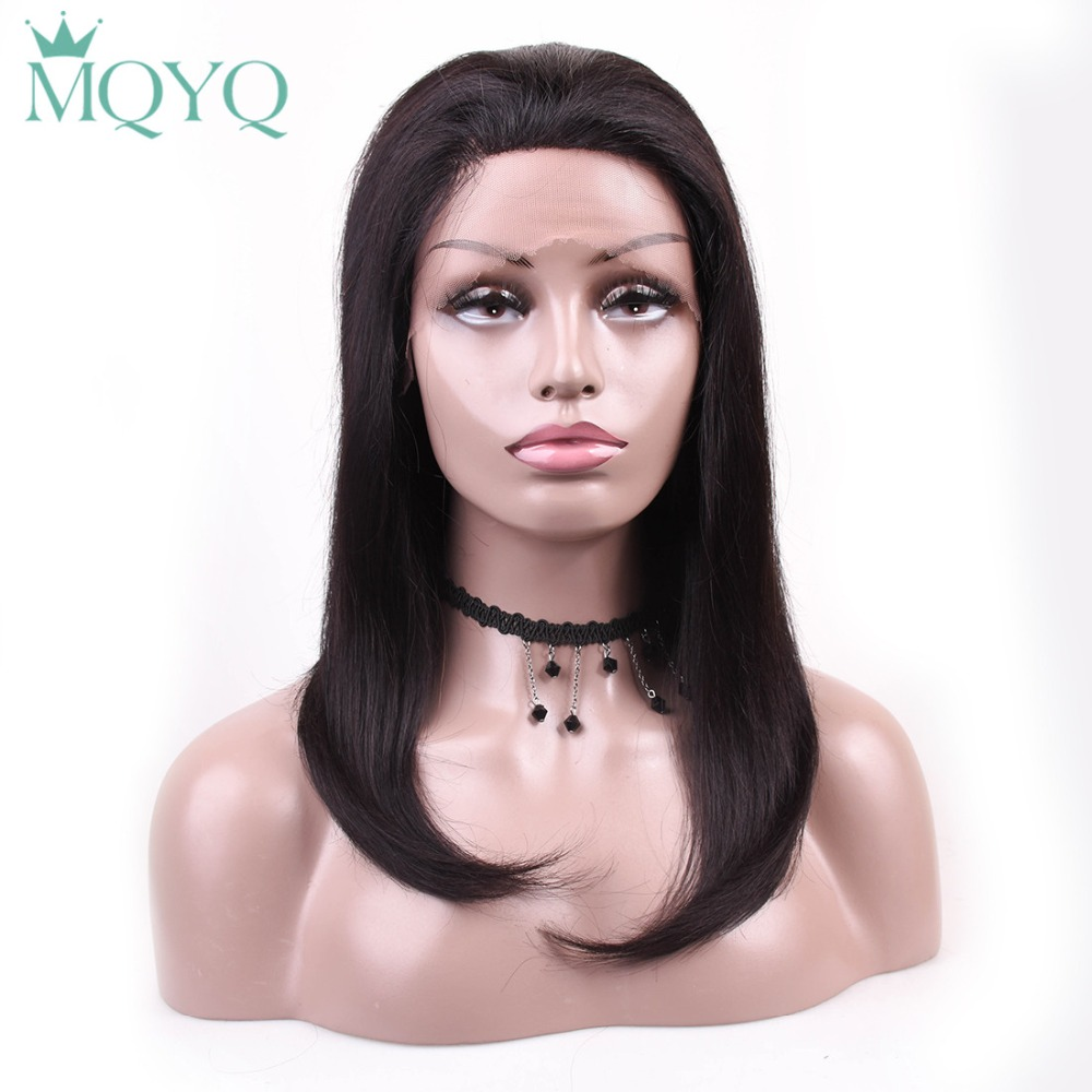 Hair Extensions & Wigs Mqyq Short Bob Wigs Indian Remy Hair Straight Lace Wig Front Human Hair Wigs For Black Women Natural Hairline Lace Frontal Wig