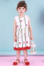 Мода 2016 хлопок Семьи костюмы Новый Летний Цветок одежды Семьи, мама девочки хлопок длинное Платье