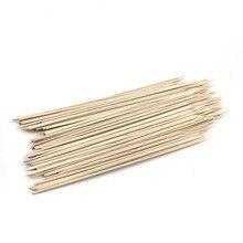 200 шт./упак. Инструменты для барбекю с длинным бамбуковые палочки шампура bbq наклейки в виде конфет Твистер хлопковая нитяная куртка с капюшоном Аксессуары для барбекю Ресторан 30 см* 3 мм