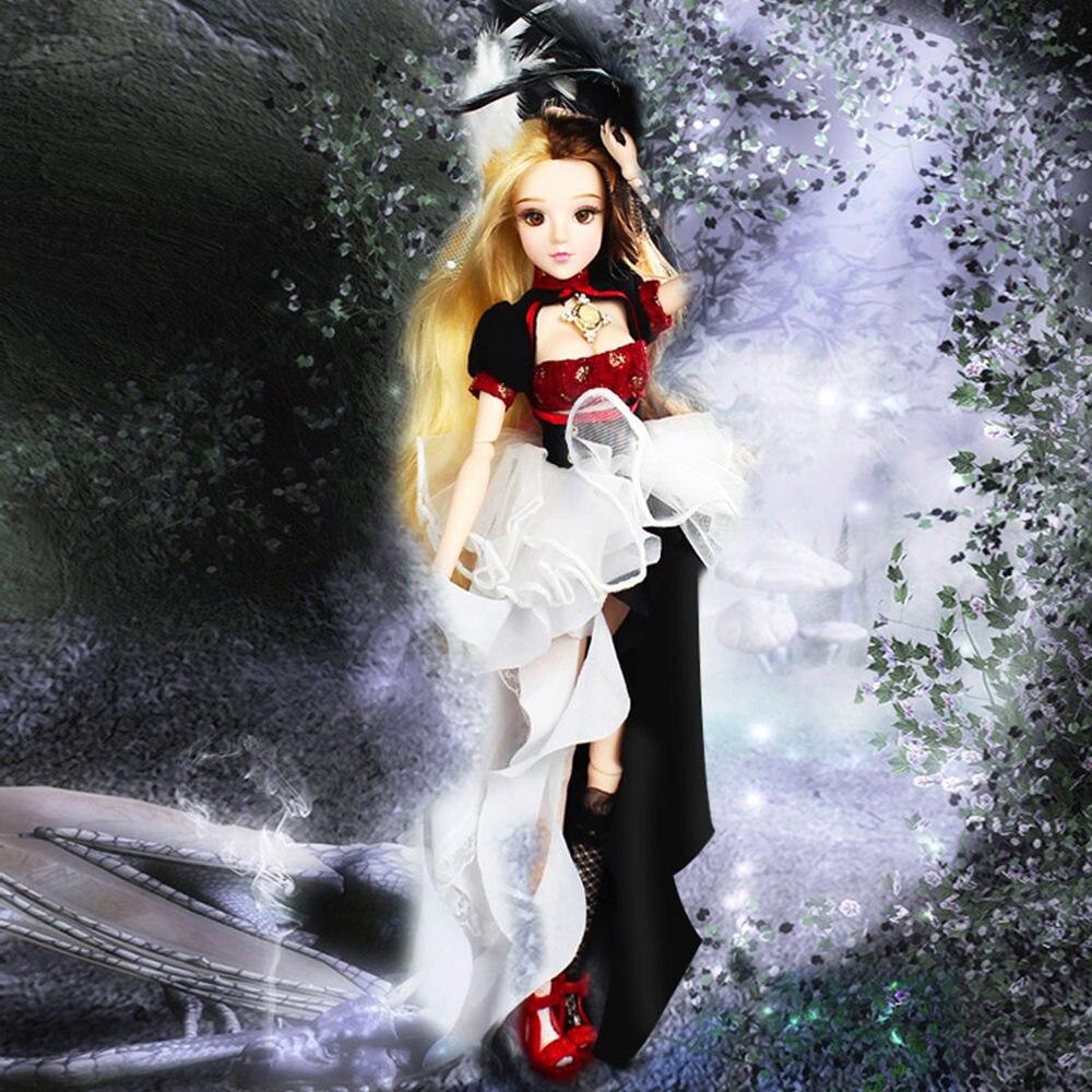 Fortune Days MMGirl 12 Horoscope Gemini like BJD Blyth doll 1/6 30cm black and white dress fantasy 14 joint body dolls toy gift