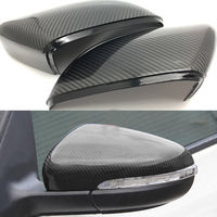 Carbon Fiber Car Side Rear View Rearview Back Mirro for Golf 6 MK7 R 2008 2013