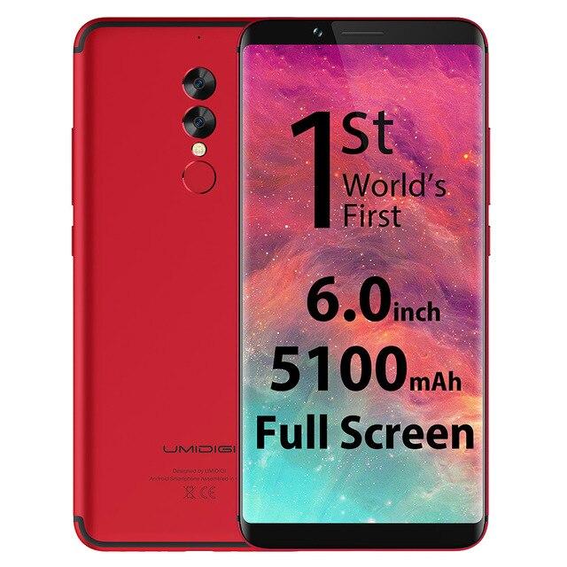Umidigi S2 4 г Phablet Android 6.0 6.0 дюймов helio p20 Octa Core 2.3 ГГц 4 ГБ Оперативная память 64 ГБ встроенная память 13.0mp + 5.0mp двойной камеры заднего Тип-c