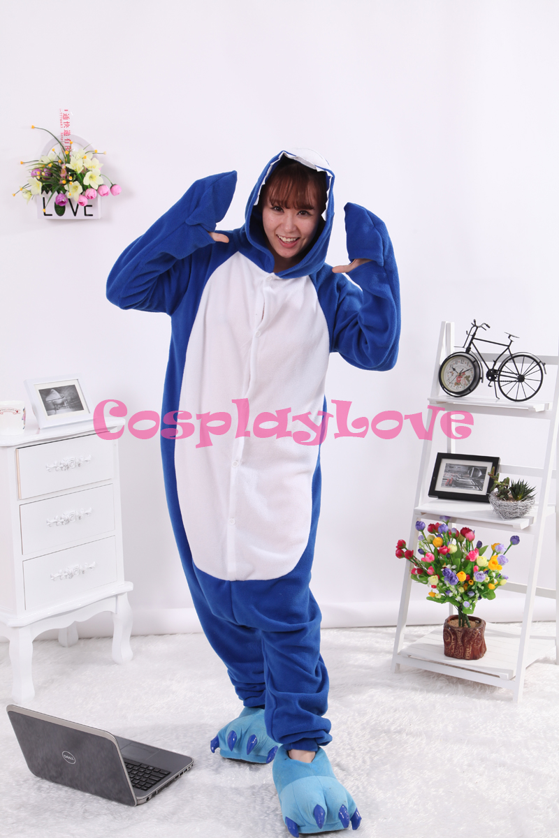 popular shark onesie kids buy cheap shark onesie kids lots from shark pajamas animal cosplay costume coral women men kid adult pajamas onesies cartoon halloween sleepwear sleepsuit