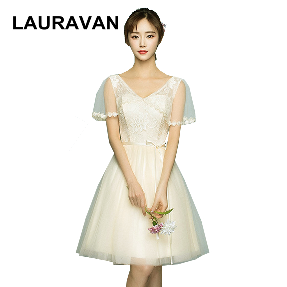 girls cheap elegant sleeve formal teens bridesmaid dresses short champagne bridesmade beach dress girl from china ball gown