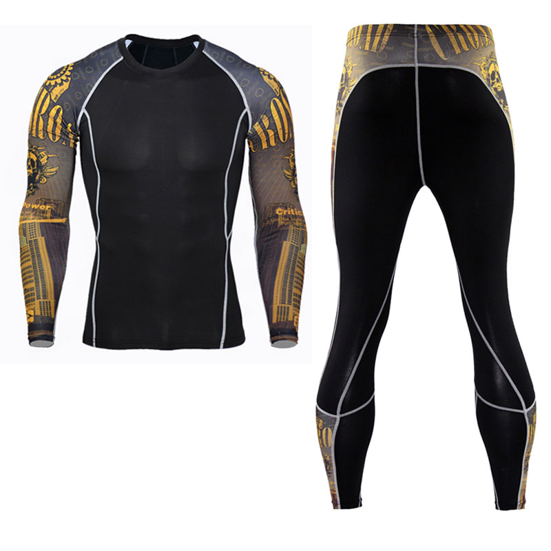Men Compression Tight Long Pants Black Trousers Joggers Trousers Emoji Joggers Emoji Slim Fit Mallas Hombre Fitness Pant
