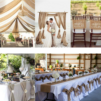 20 inch wide vintage rustic wedding table burlap runner DIY aisle runner floor carpet carpet runner burlap ribbon for party deco