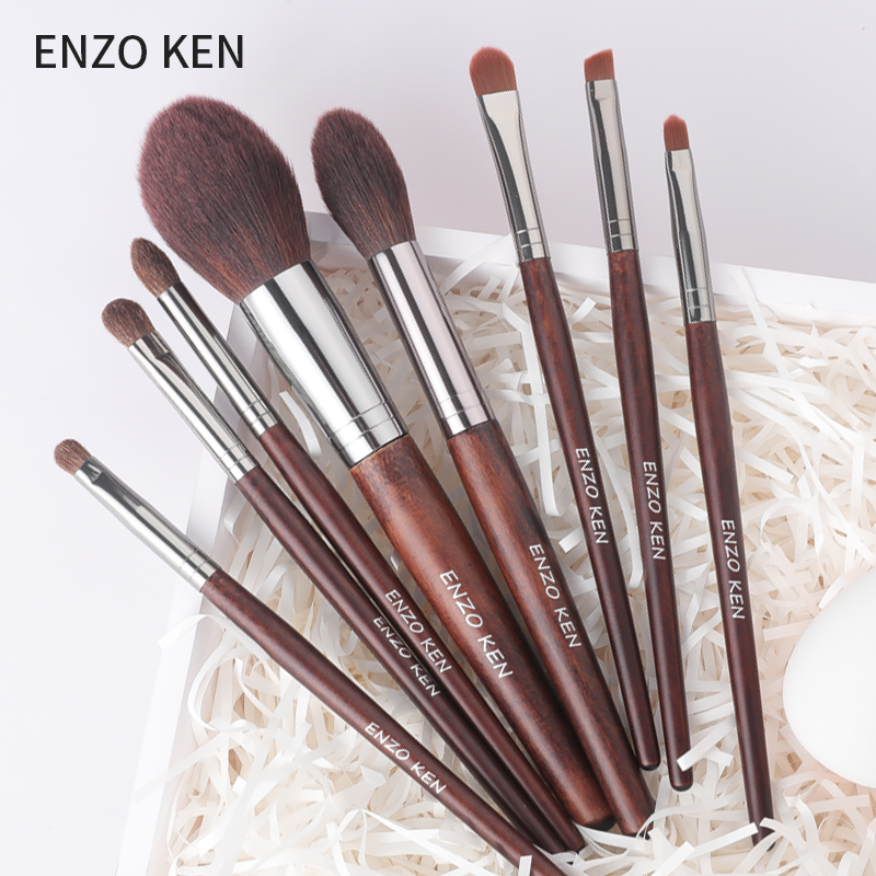 Horse Hair Makeup Brushes with Bag ENZO KEN Drop Shipping 8Pcs Blush Brush Powder Eye shadow Make up Brushes Set-in Eye Shadow Applicator from Beauty  Health on Aliexpresscom  Alibaba Group
