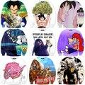 Os mais recentes Desenhos Animados Dragon Ball Z Super Saiyan 3D Moletom Um Soco Homem Crewneck Pullovers Camisolas de Manga Longa Moletom Com Capuz