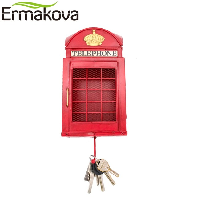 ERMAKOVA European Street London Telephone Booth Ornament with ...