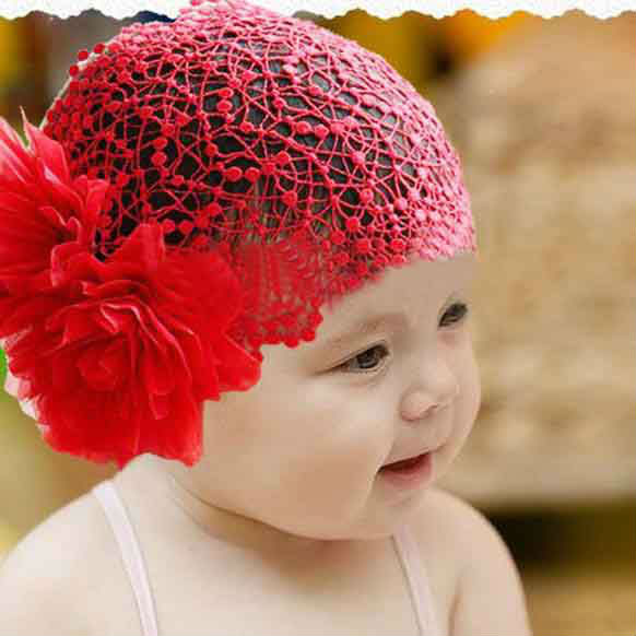 New hot wholesale children's hair band baby big flower headbands  baby headband role of 2 color 5 PCS/Lot free shipping