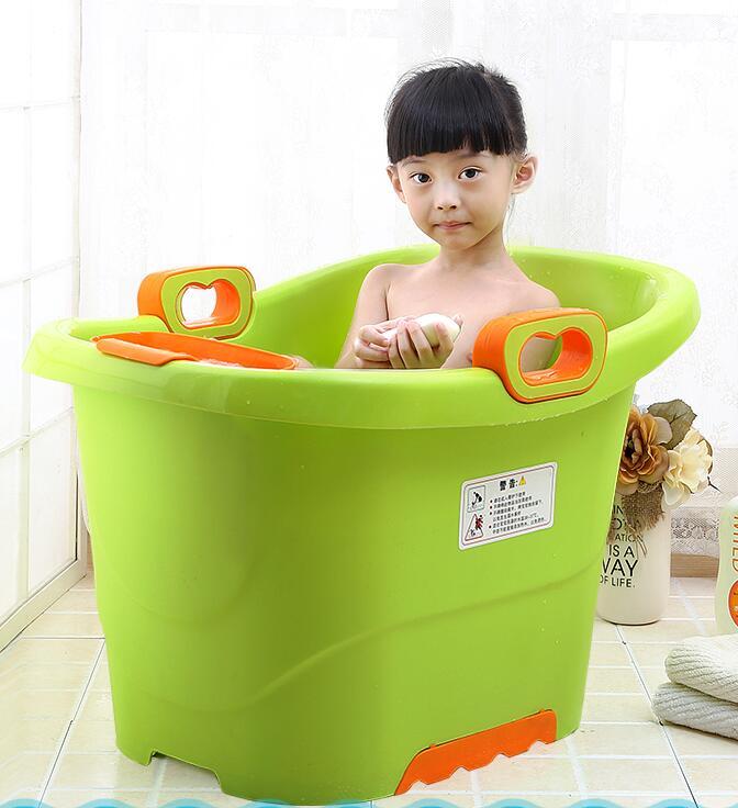 Free shipping small baby bathtub baby bucket bath Large child ...