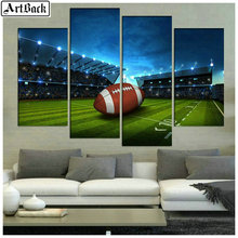 1 set of 4pcs diamond painting baseball field game full square embroidery 3d round drill wall sticker