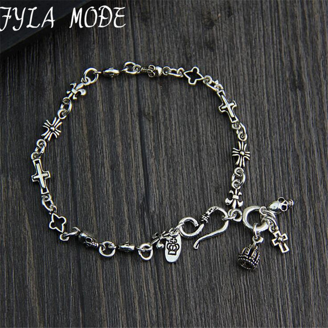 925 Sterling Silver Rosary Bracelet S925 Thai Silver 5 70mm Width