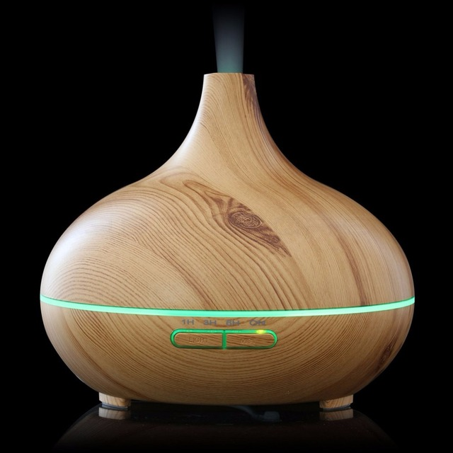 300ml Cool Mist Humidifier Ultrasonic Wooden Aroma Diffuser for ...