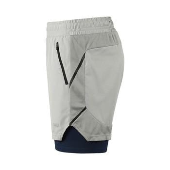 ARSUXEO Reflective Men's Running Shorts 2 In 1 Breathable Polyester Spandex Marathon Running Shorts Jogging Gym Sports Shorts 1