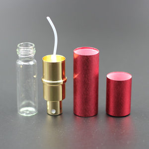 Image 5 - Pump New 50pcs/lot 10ml Anodized Aluminum Glass Perfume Bottle Vial Perfume Liquid Atomizer Spray Bottle Container Scent Bottle
